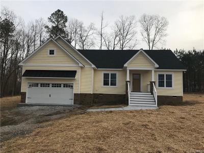 Dinwiddie Single Family Home For Sale: 12323 Quaker Road