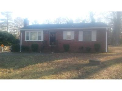 Chesterfield VA Single Family Home For Sale: $121,100