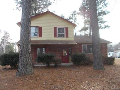 Prince George VA Single Family Home For Sale: $164,900
