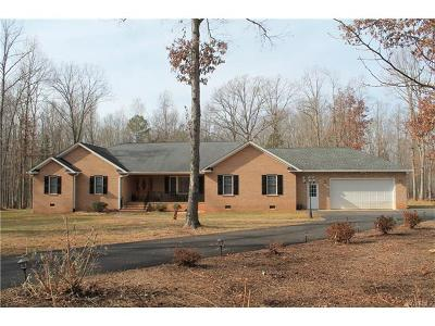 Amelia County Single Family Home For Sale: 13700 Chula Road