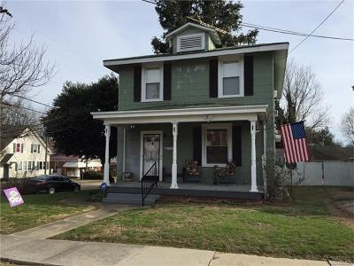 Colonial Heights VA Single Family Home For Sale: $164,000
