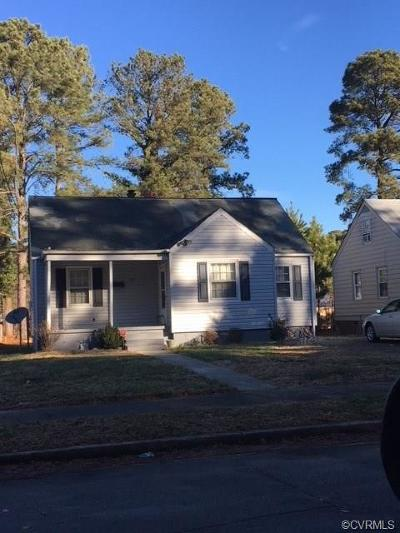 Petersburg VA Single Family Home For Sale: $64,900