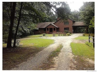 Powhatan County Single Family Home For Sale: 1526 Mill Quarter Road