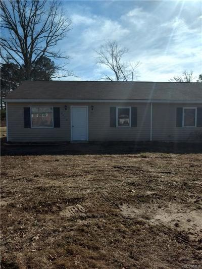 Prince George VA Single Family Home For Sale: $139,000
