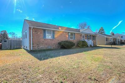 Colonial Heights VA Single Family Home For Sale: $105,000