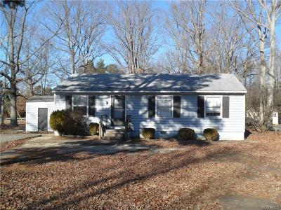 Prince George VA Single Family Home For Sale: $85,500