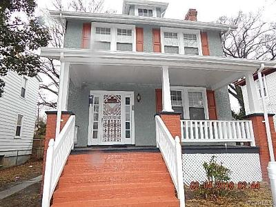 Richmond VA Single Family Home Sold: $142,000