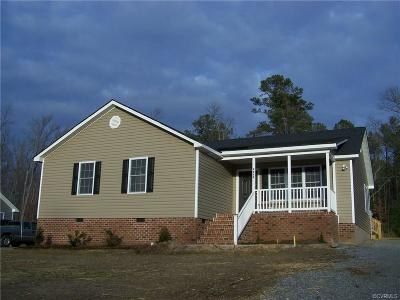 Dinwiddie County Single Family Home For Sale: 4020 Moss Point Drive