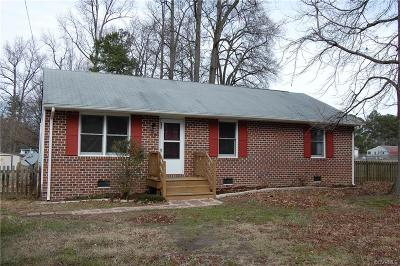 Dinwiddie County Single Family Home For Sale: 24000 Fieldshire Lane