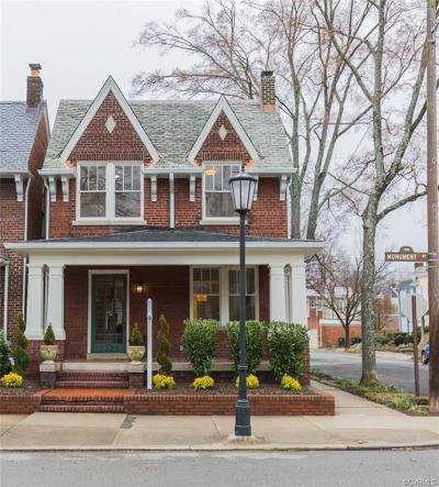 Richmond Single Family Home For Sale: 3225 Monument Avenue