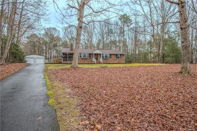 Dinwiddie County Single Family Home For Sale: 18706 Stonewall Drive