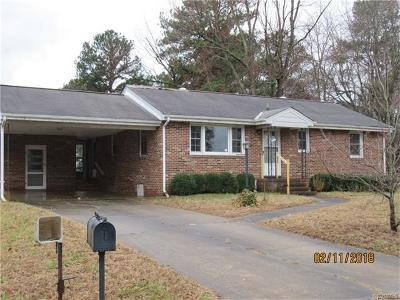 Dinwiddie County Single Family Home For Sale: 25213 Ritchie Avenue