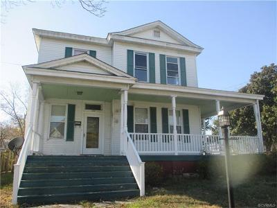 Nottoway County Single Family Home For Sale: 300 East Tennessee Avenue