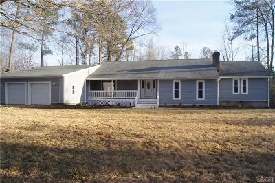 Dinwiddie County Single Family Home For Sale: 22427 Hilltop Drive