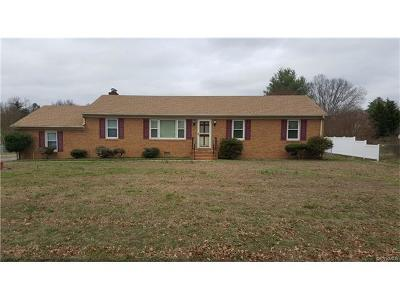 Mechanicsville Single Family Home For Sale: 6438 Dairy Drive