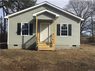 Hopewell VA Single Family Home For Sale: $119,950