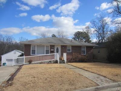Colonial Heights VA Single Family Home For Sale: $119,000