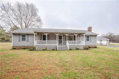 Dinwiddie County Single Family Home For Sale: 6305 Claiborne Road
