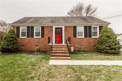Dinwiddie VA Single Family Home For Sale: $139,500