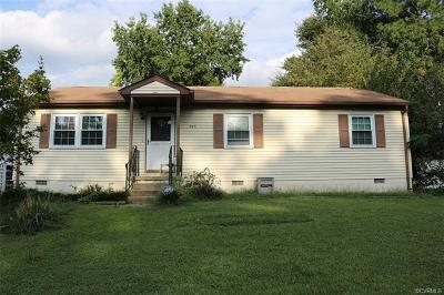Hopewell VA Single Family Home For Sale: $100,000