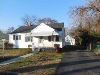 Colonial Heights VA Single Family Home For Sale: $93,000