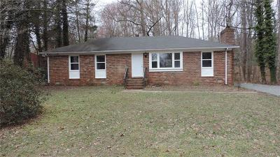 Chesterfield VA Single Family Home For Sale: $229,750