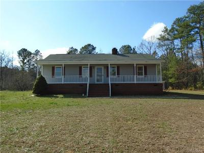 Dinwiddie County Single Family Home For Sale: 13740 Wade Drive