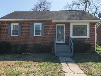 Hopewell VA Single Family Home For Sale: $115,000