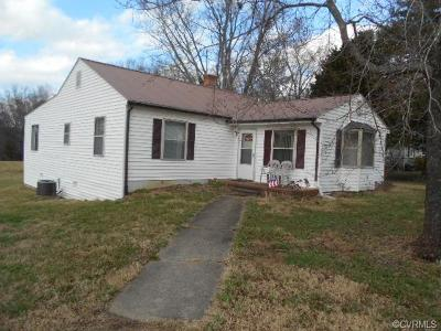 Farmville Single Family Home For Sale: 260 Fairgrounds Road