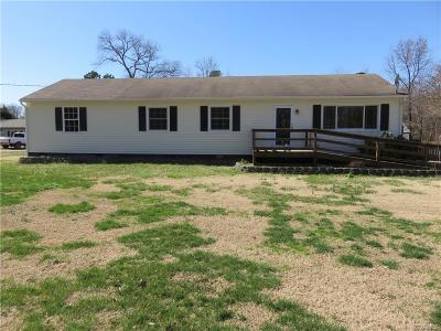 King William County Single Family Home For Sale: 8777 Dabneys Mill Road