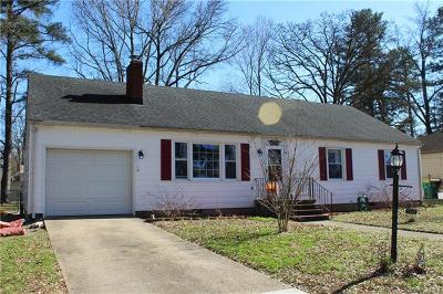 Hopewell VA Single Family Home For Sale: $157,500
