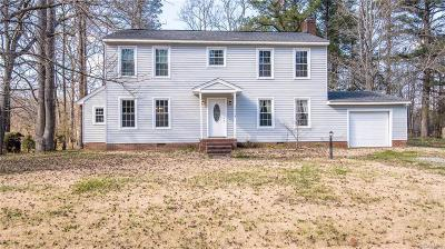 Prince George VA Single Family Home For Sale: $185,000
