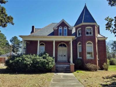 Blackstone VA Single Family Home Sold: $99,950