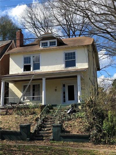 Hopewell VA Single Family Home For Sale: $45,000
