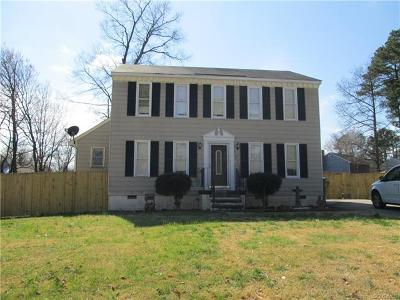 Hopewell VA Single Family Home For Sale: $132,900