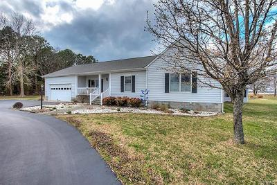 Single Family Home For Sale: 6276 Morattico Road