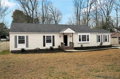 Chesterfield VA Single Family Home For Sale: $217,650