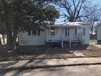 Hopewell VA Single Family Home For Sale: $32,500