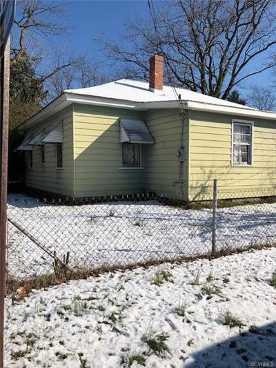 Hopewell VA Single Family Home For Sale: $69,000