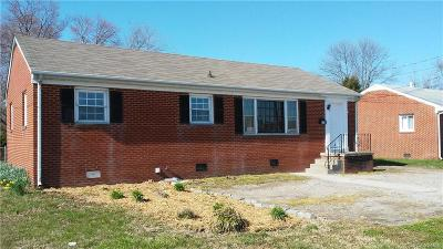 Colonial Heights VA Single Family Home For Sale: $130,000