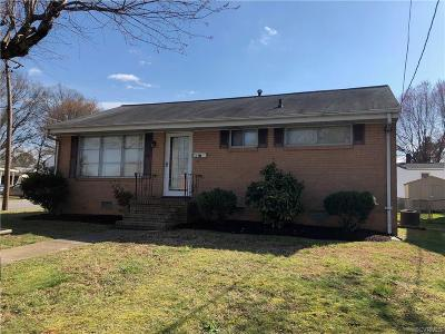 Colonial Heights VA Single Family Home For Sale: $139,900
