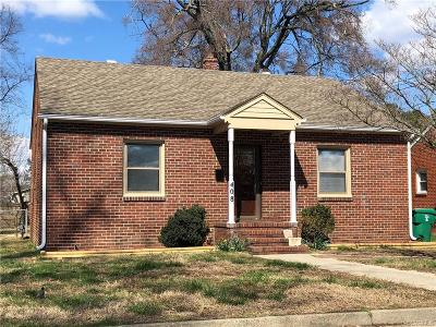 Colonial Heights VA Single Family Home For Sale: $133,900