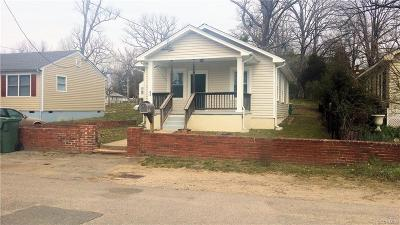 Hopewell VA Single Family Home For Sale: $87,950