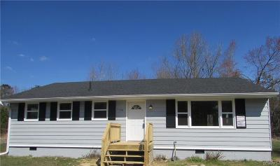 Charles City Single Family Home For Sale: 9000 Church Lane