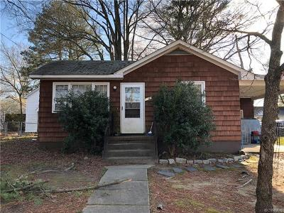 Hopewell VA Single Family Home For Sale: $109,500