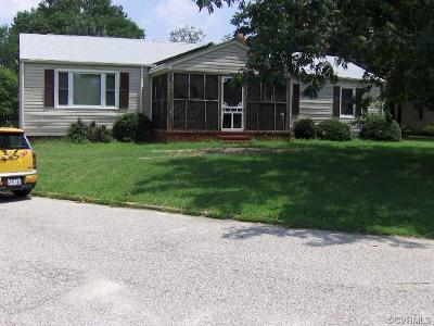 Hopewell VA Single Family Home For Sale: $145,000
