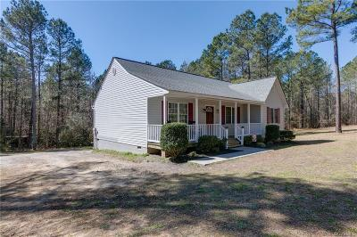 Dinwiddie Single Family Home For Sale: 24540 Baugh Road