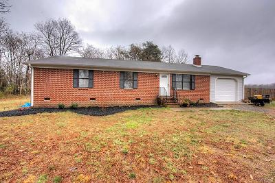 Hanover County Single Family Home For Sale: 18344 Teman Road
