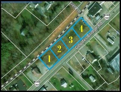 Amelia County Residential Lots & Land For Sale: .71 Acres Goodes Bridge Road