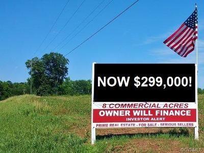 Amelia County Commercial For Sale: 8 Acres Patrick Henry Hwy & Butlers Rd